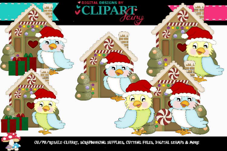 Christmas Parrots 2 example image 1