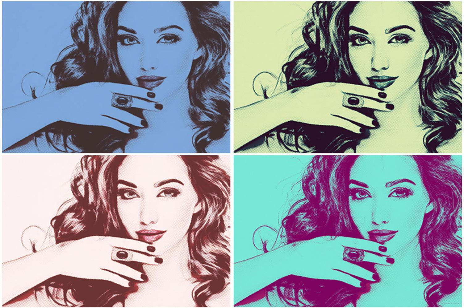 20 Pop Art Photoshop Actions Ver. 2 example image 6