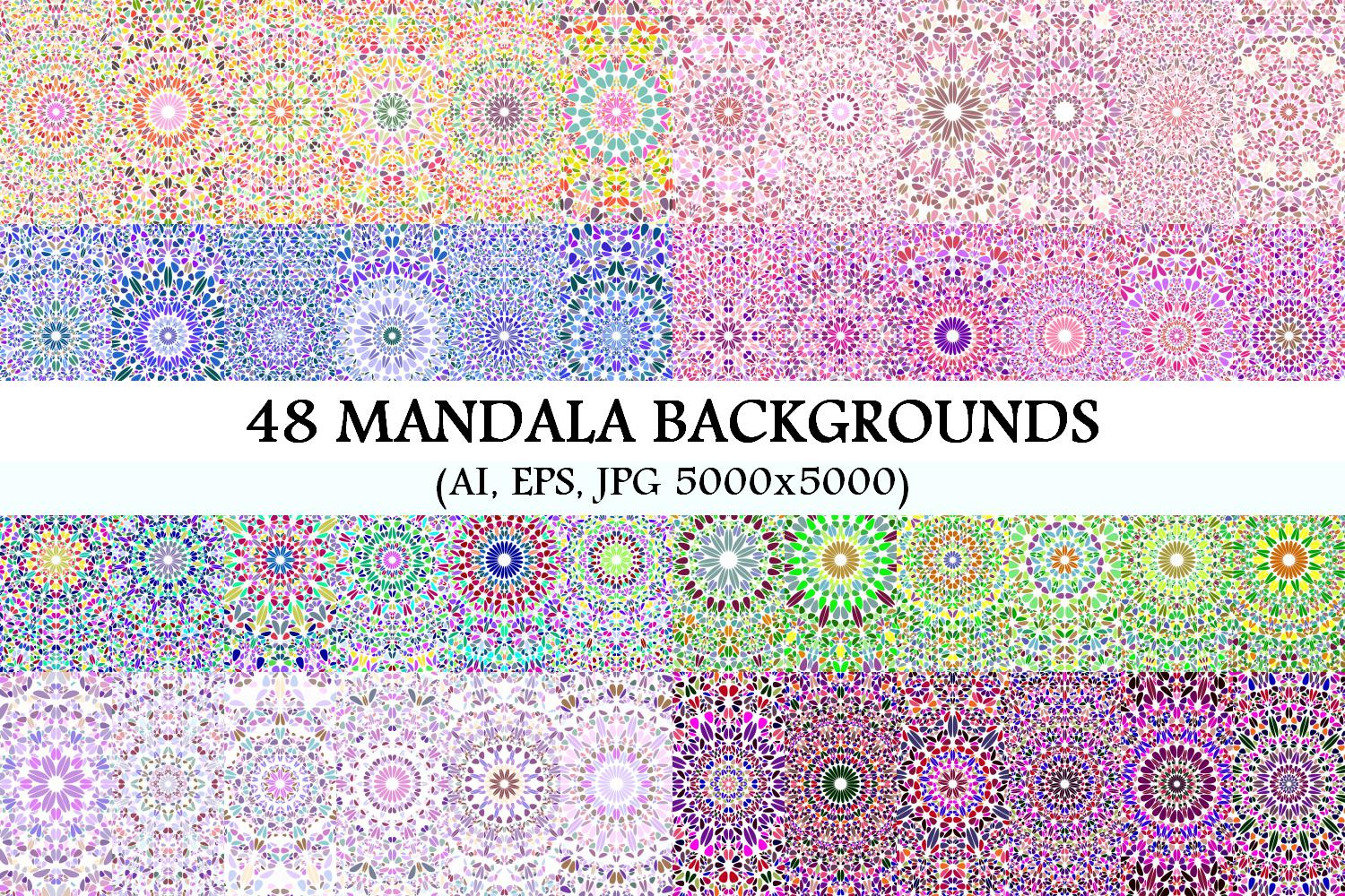 48 Floral Mandala Backgrounds example image 1