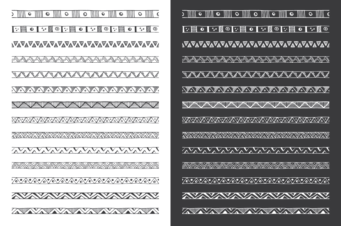 Hand Drawn Pattern Brushes Vol. 03 example image 5