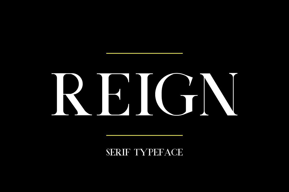 Reign Typeface example image 1