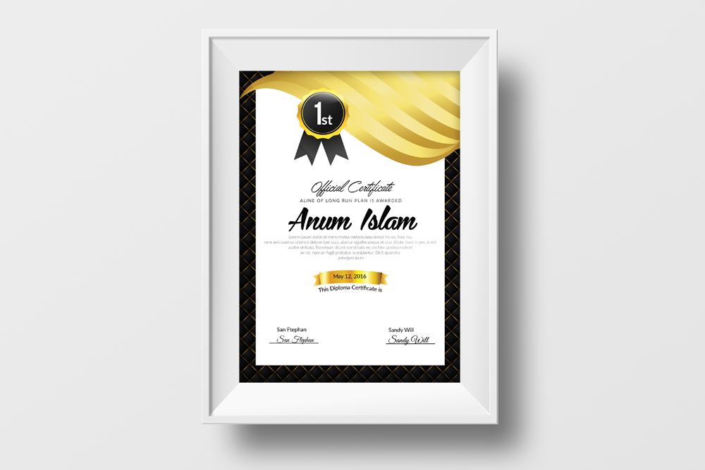 Professional Certificate Template example image 2