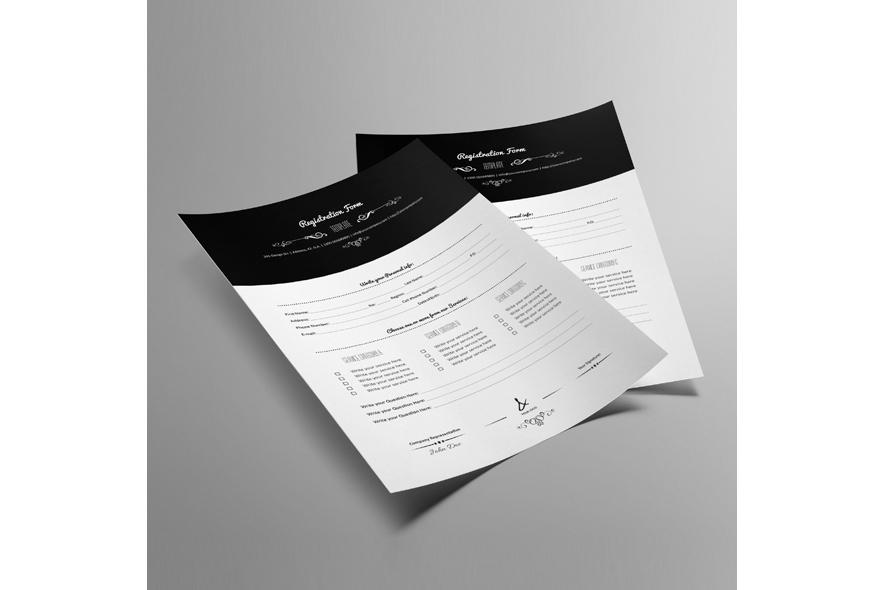 Registration Form Template v9 example image 6