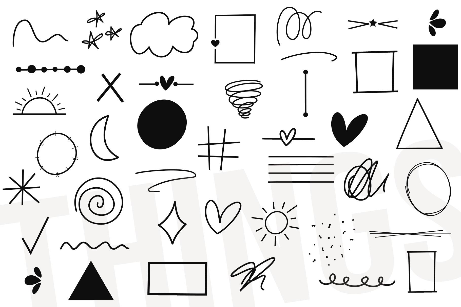 Things - A Doodle Design Font example image 8