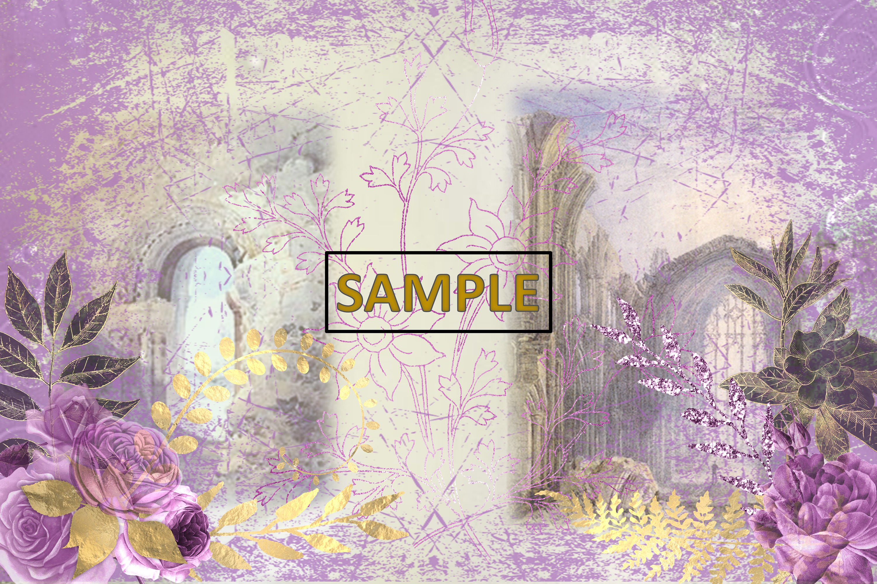 Gothic Garden Backgrounds A4 Letter Size JPEG & PDF example image 3