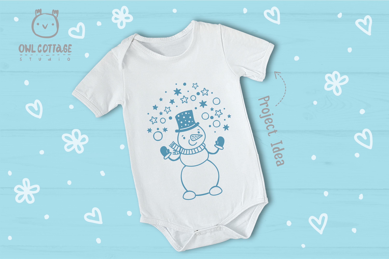 Let it Snow SVG Snowman, Snowman SVG, Christmas SVG example image 5