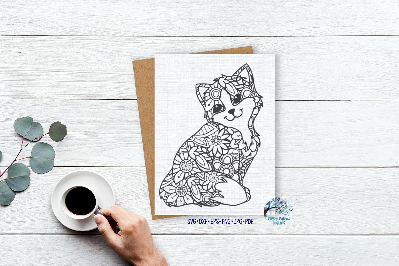 Cat Zentangle SVG example image 2