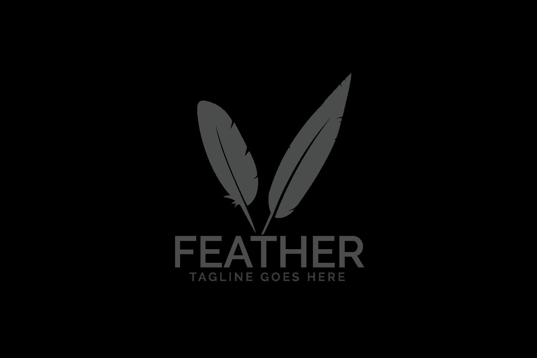 Feather elegant logo. example image 2