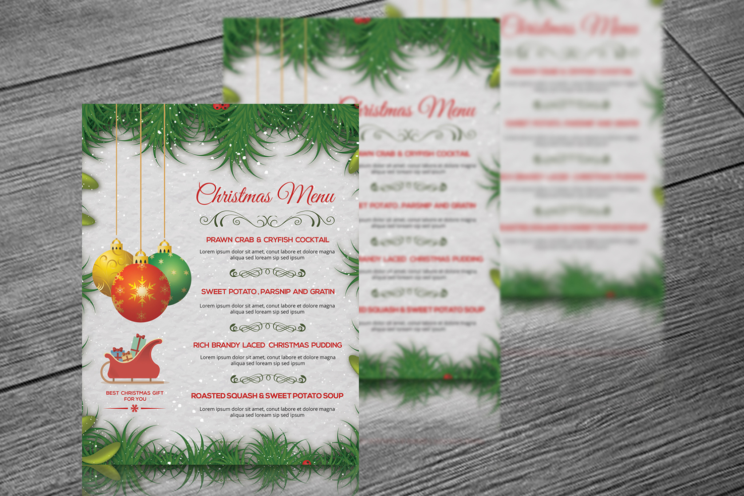 Christmas Party Menu example image 4
