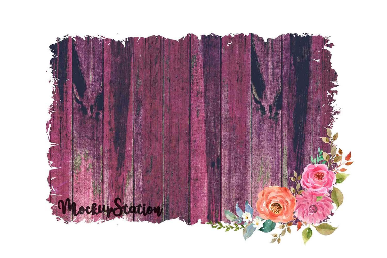 Sublimation Wood Background PNG Bundle, Frame Clip Art example image 7