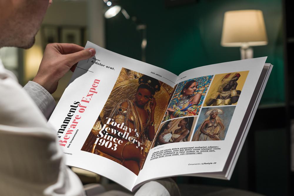 Fashion Magazine Layout Template example image 30