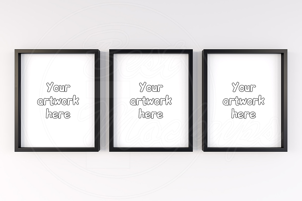Triple set scandinavian mockup frame example image 1
