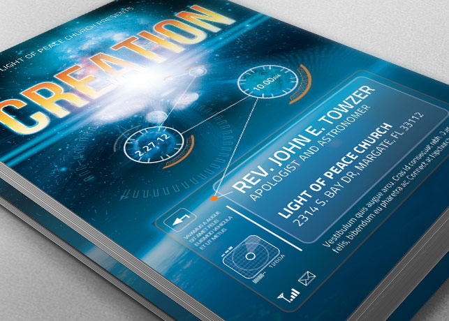 Creation Church Flyer Template example image 1
