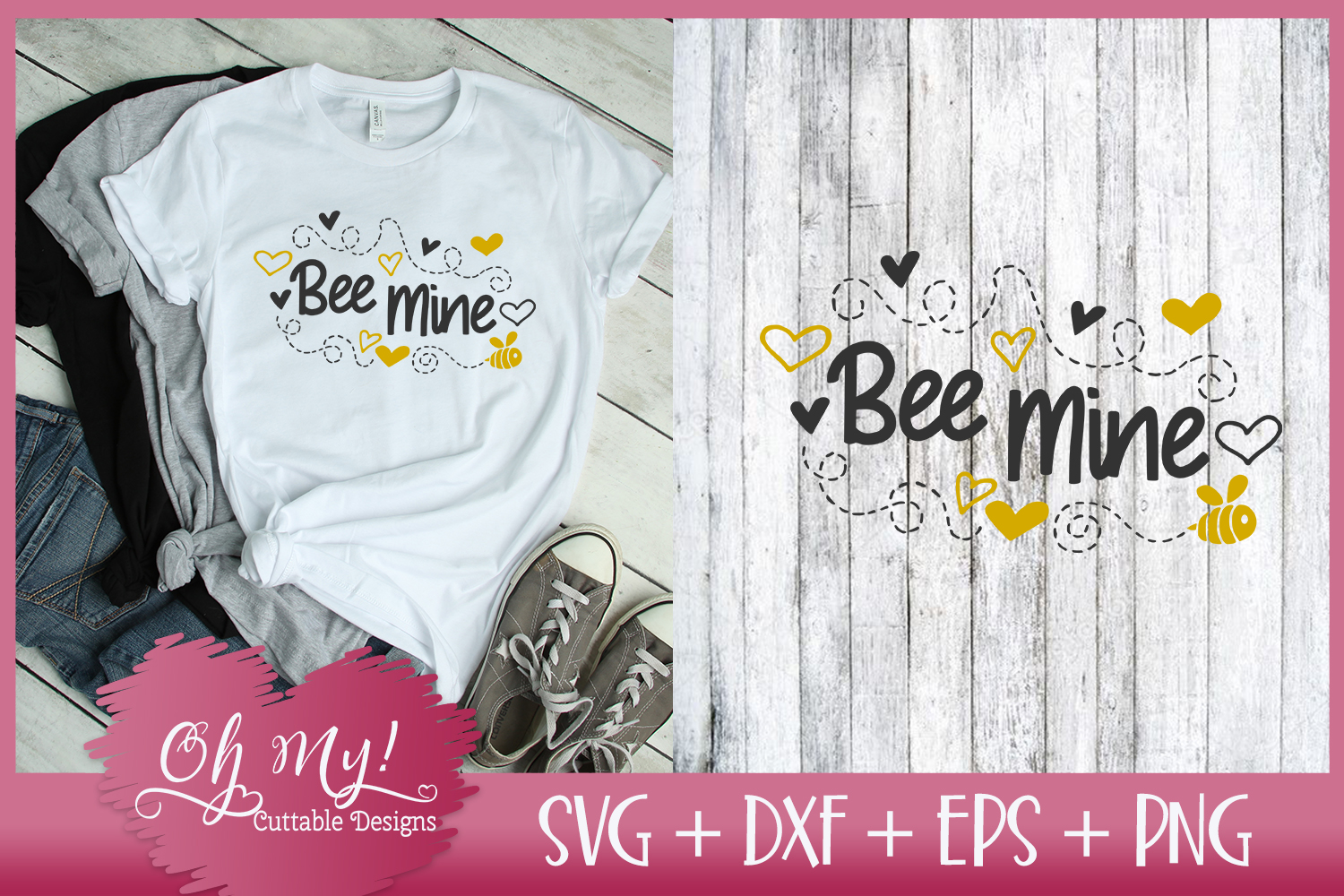 Bee Mine - SVG EPS DXF Cutting File example image 2