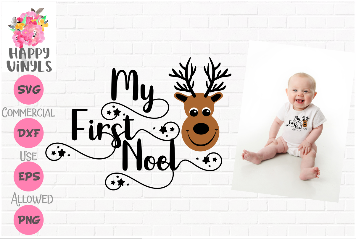 INTRO PRICED LIMITED TIME! First Christmas SVG My First Noel example image 1