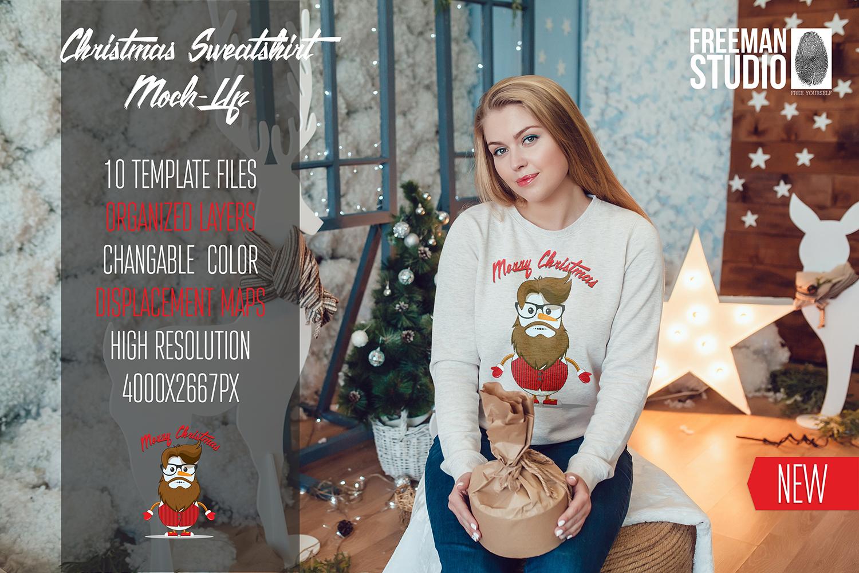 Christmas Sweatshirt Mock-Up Vol.2 example image 1