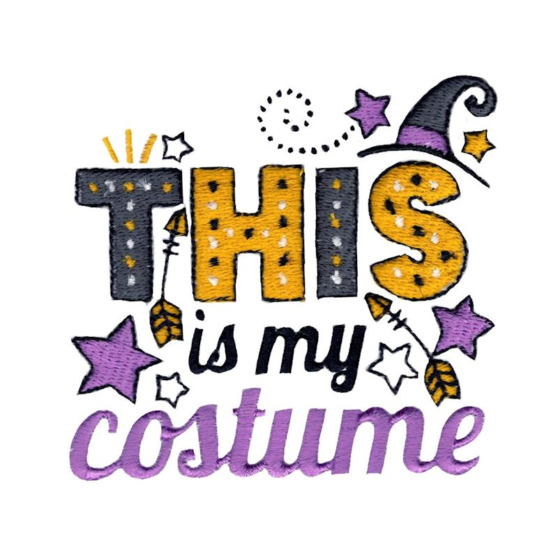 Halloween Sentiments Four - 12 Machine Embroidery Designs example image 5