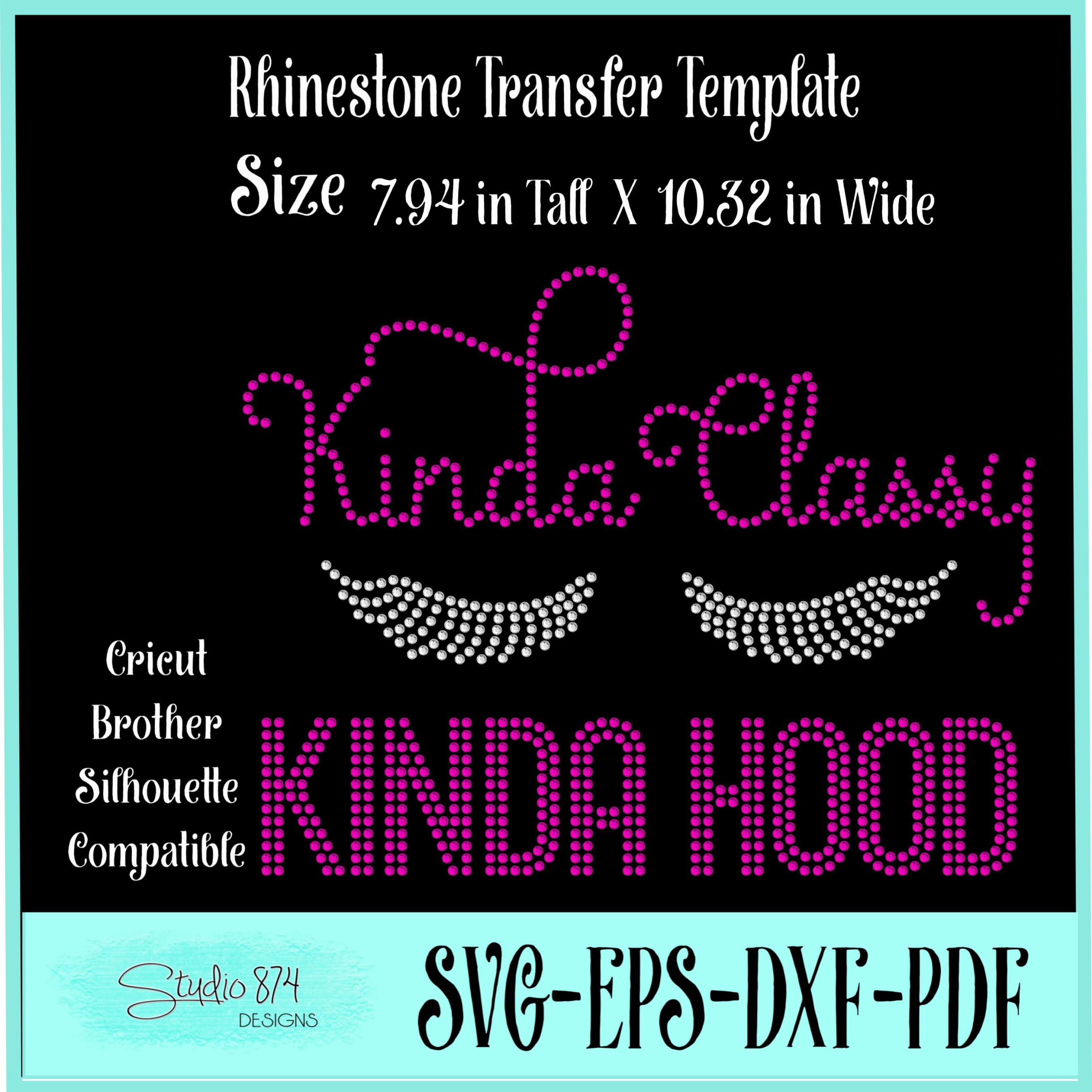 Diva Sassy Rhinestone Template - Kinda Classy Kinida Hood example image 2