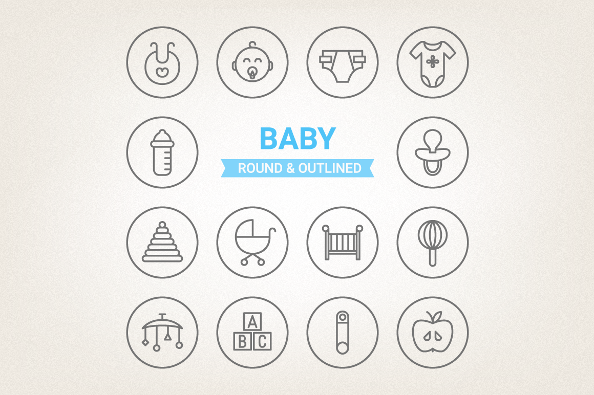 Circle Baby Icons example image 1