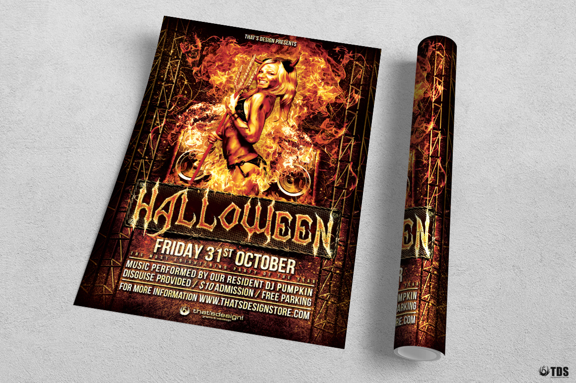 Halloween Flyer Template V3 example image 2