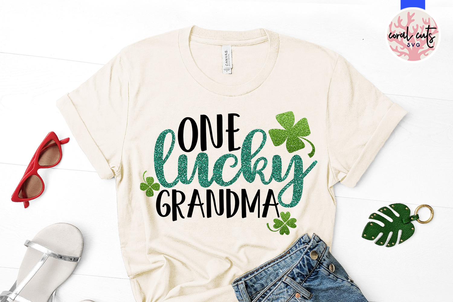 One lucky grandma - St. Patrick's Day SVG EPS DXF PNG example image 2