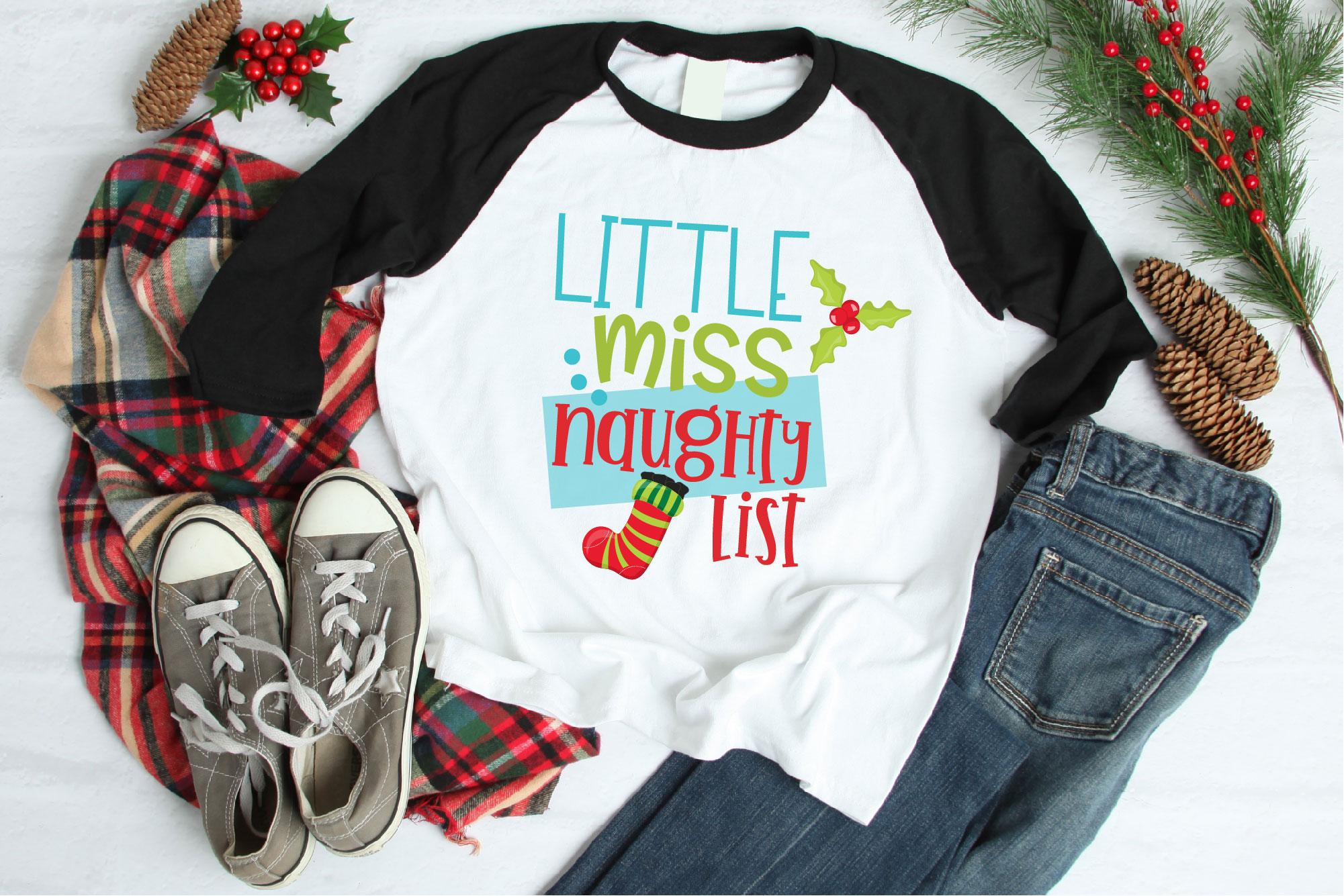 Naughty List SVG Bundle, Santa's Naughty List, Christmas example image 6