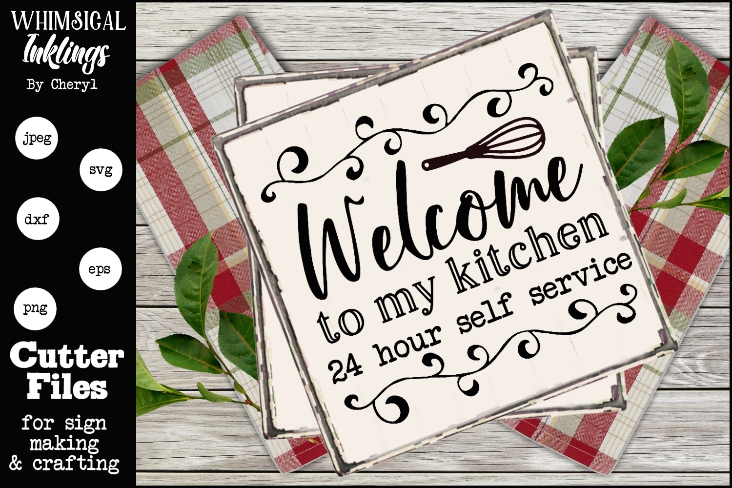 Welcome To My Kitchen SVG example image 1