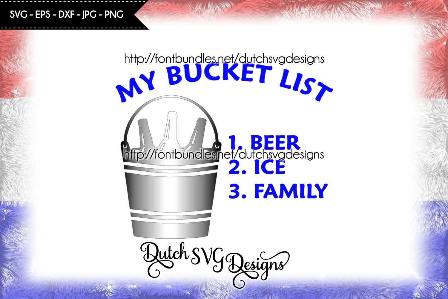 Text cutting file Bucket List example image 1