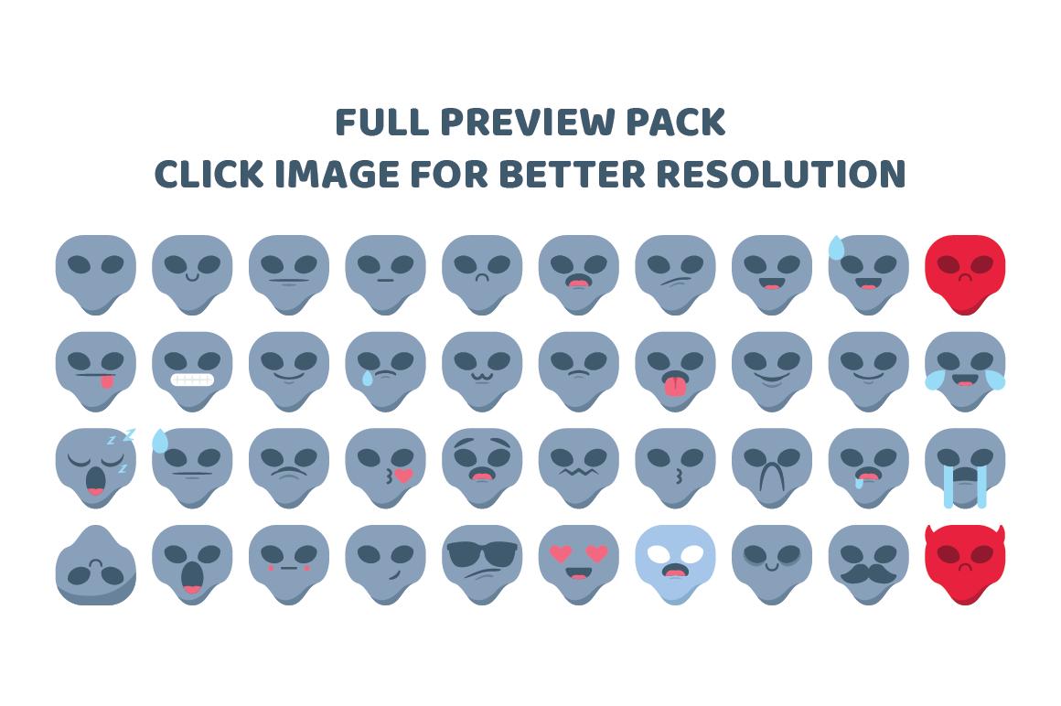 Alien Emojis example image 1