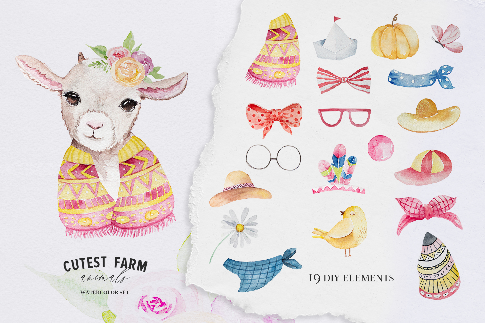 Cutest Farm Animals Set example image 7