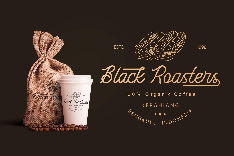 Black Roasters | Monoline Font example image 4