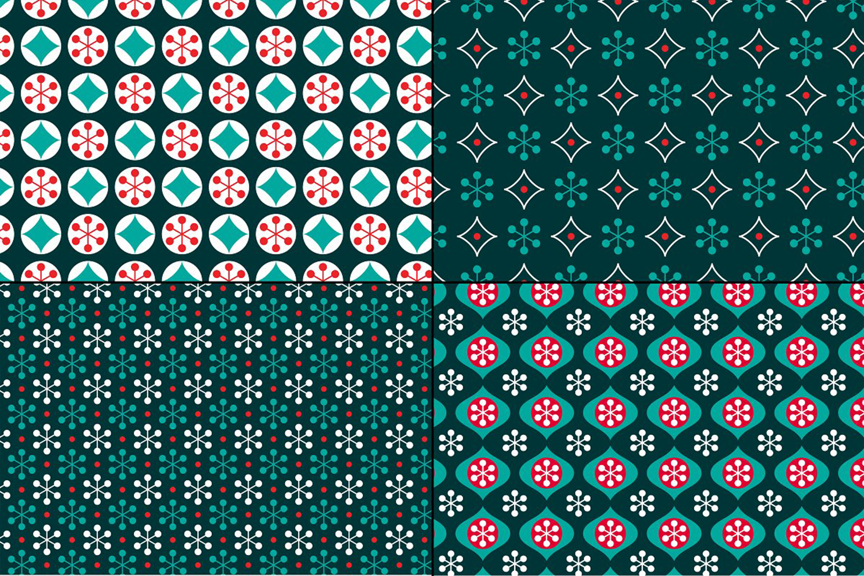 Small Seamless Holiday Patterns example image 2