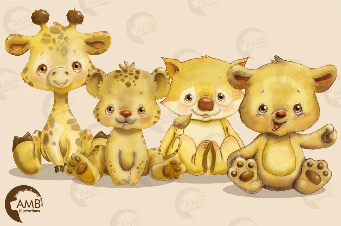 Jungle Babies watercolor clipart AMB-2285 example image 4