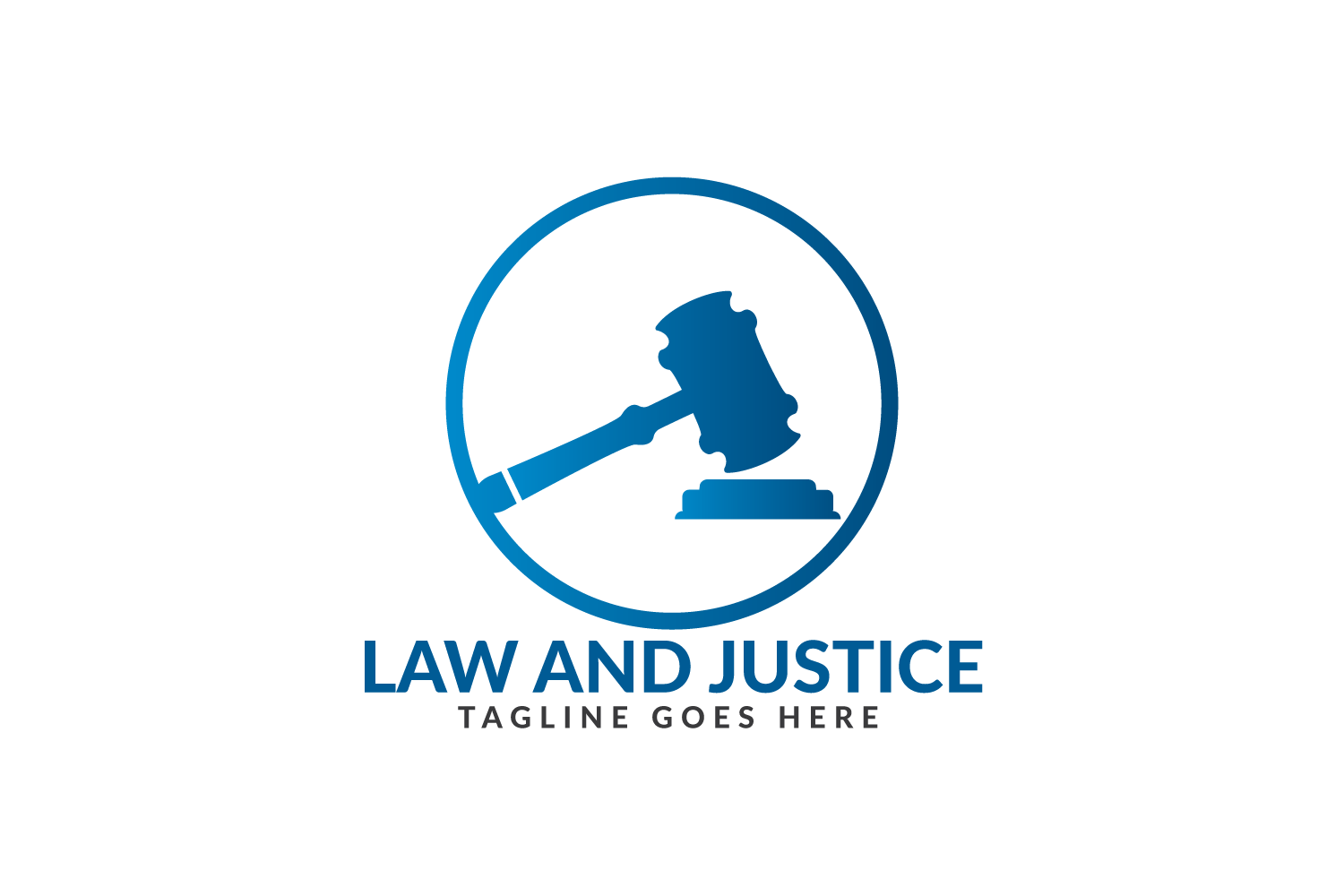 Law and Justice Logo Design. example image 2