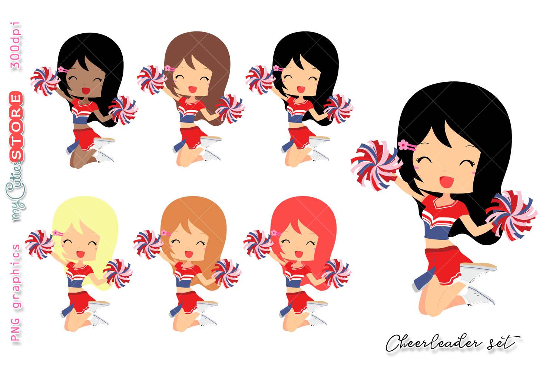 cheerleader girl clipart cute girls clip art set for planner rh designbundles net clipart of girl gingerbread clipart of girl dancing