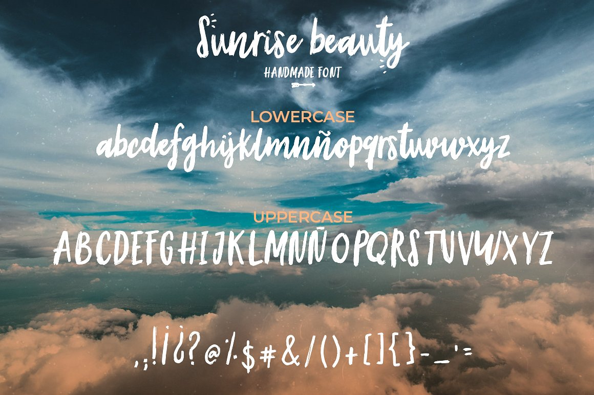Sunrise | Handmade font and extras! example image 2