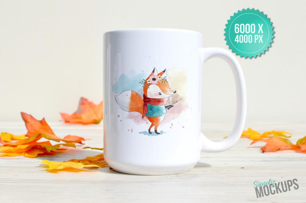 15oz Mug Fall Mockup example image 2