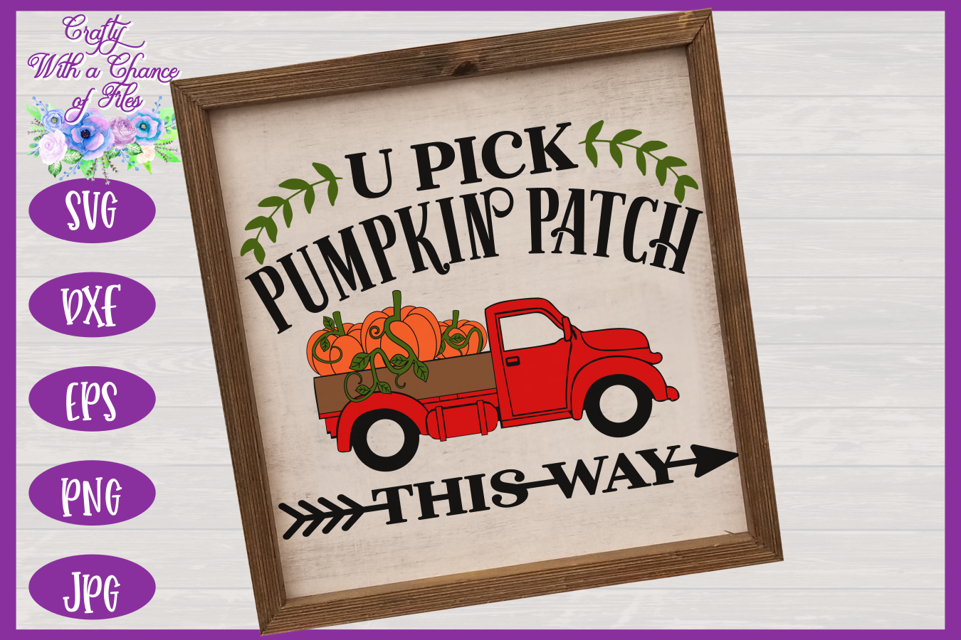 U Pick Pumpkins SVG | Fall Truck SVG | Pumpkin Patch SVG example image 2