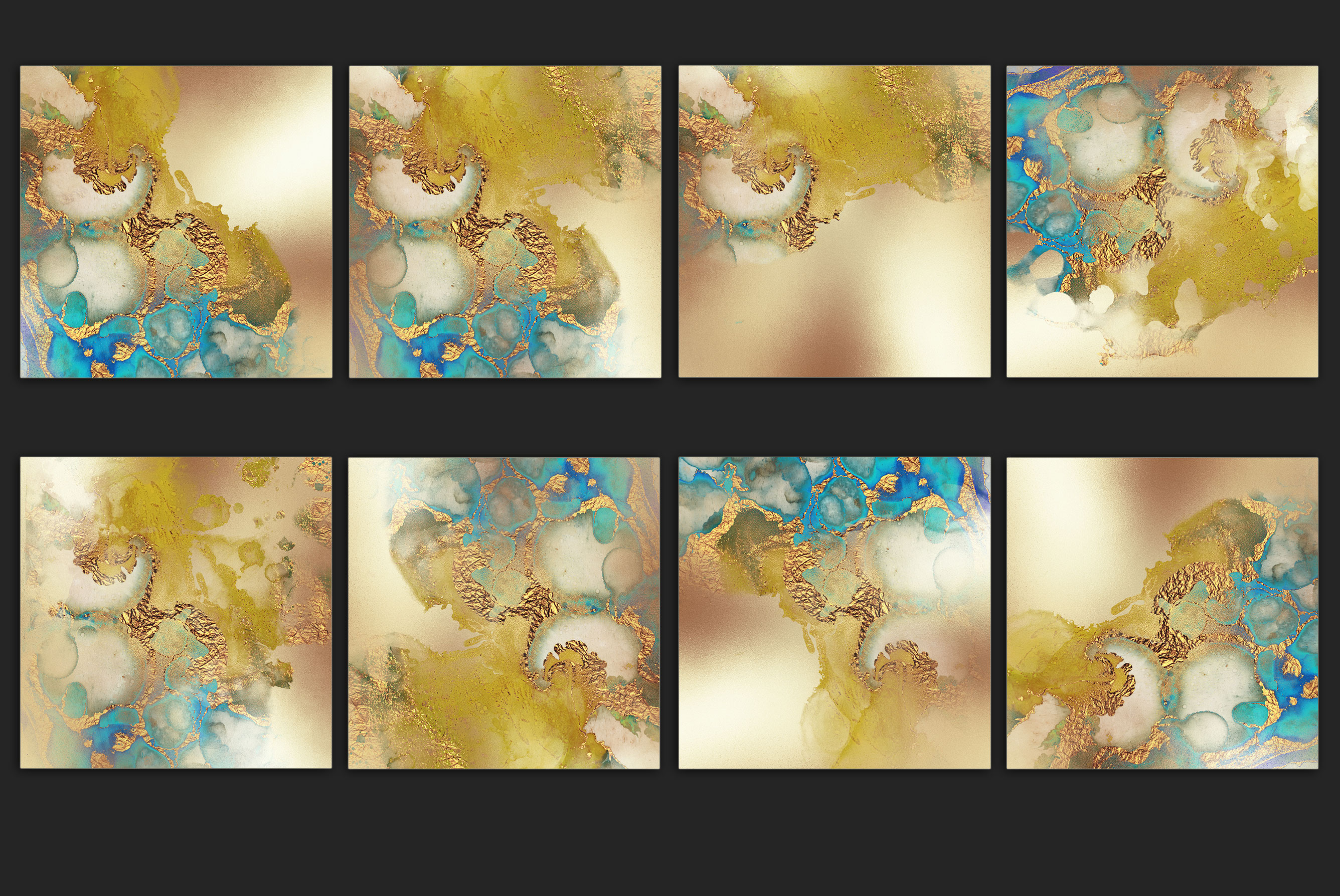 Gold Watercolor and Foil JPG-PNG Textures-BUNDLE example image 19