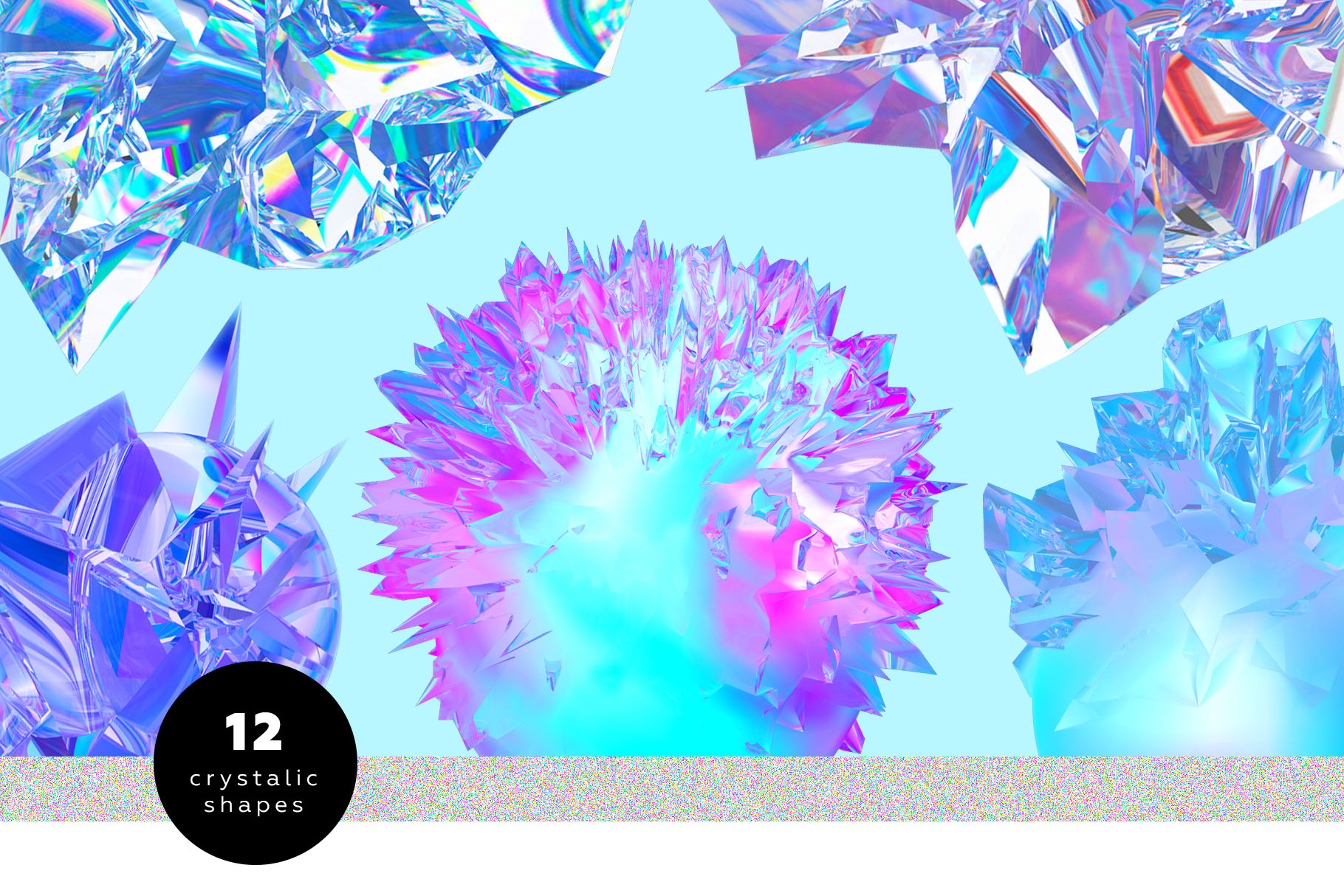 Crystalic - abstract shapes example image 2