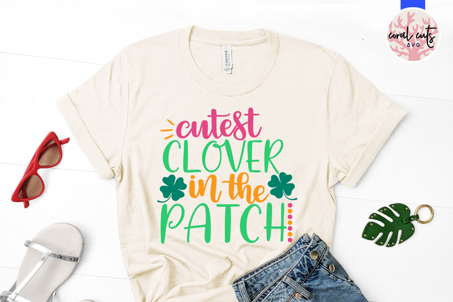 Cutest clover in the patch - St. Patrick's Day SVG EPS DXF example image 2