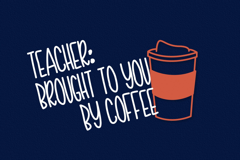 Teacher Doodles - A Dingbat Back To School Font  example image 5