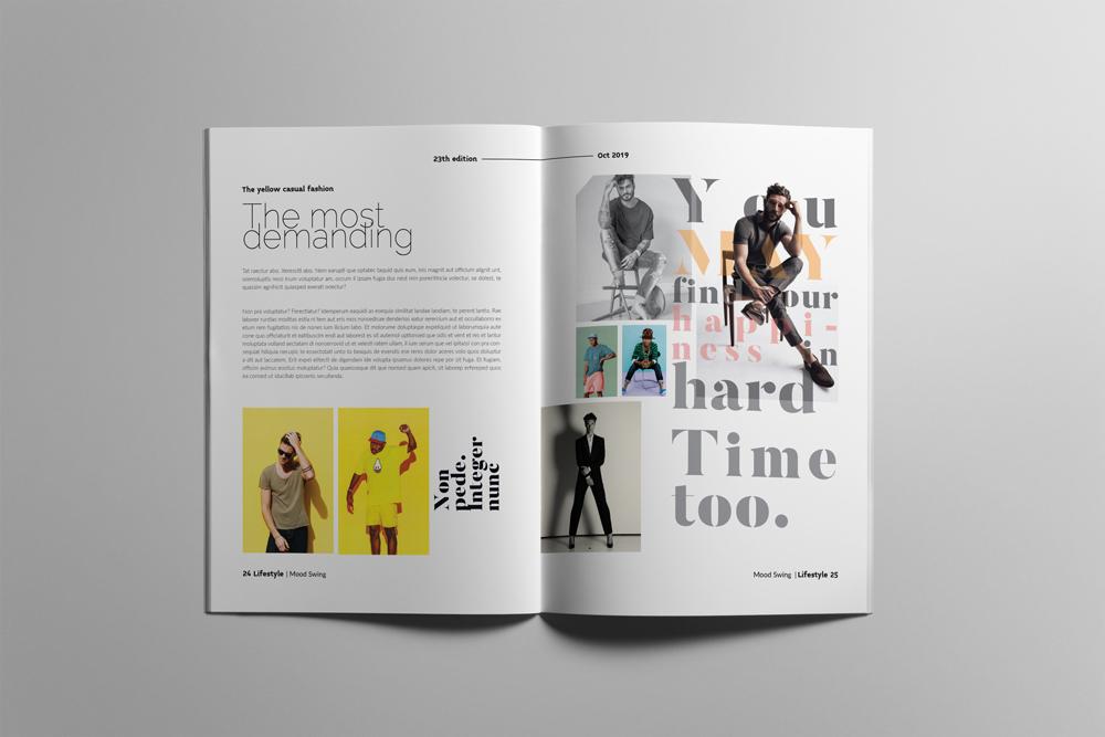 Fashion Magazine Layout Template example image 13