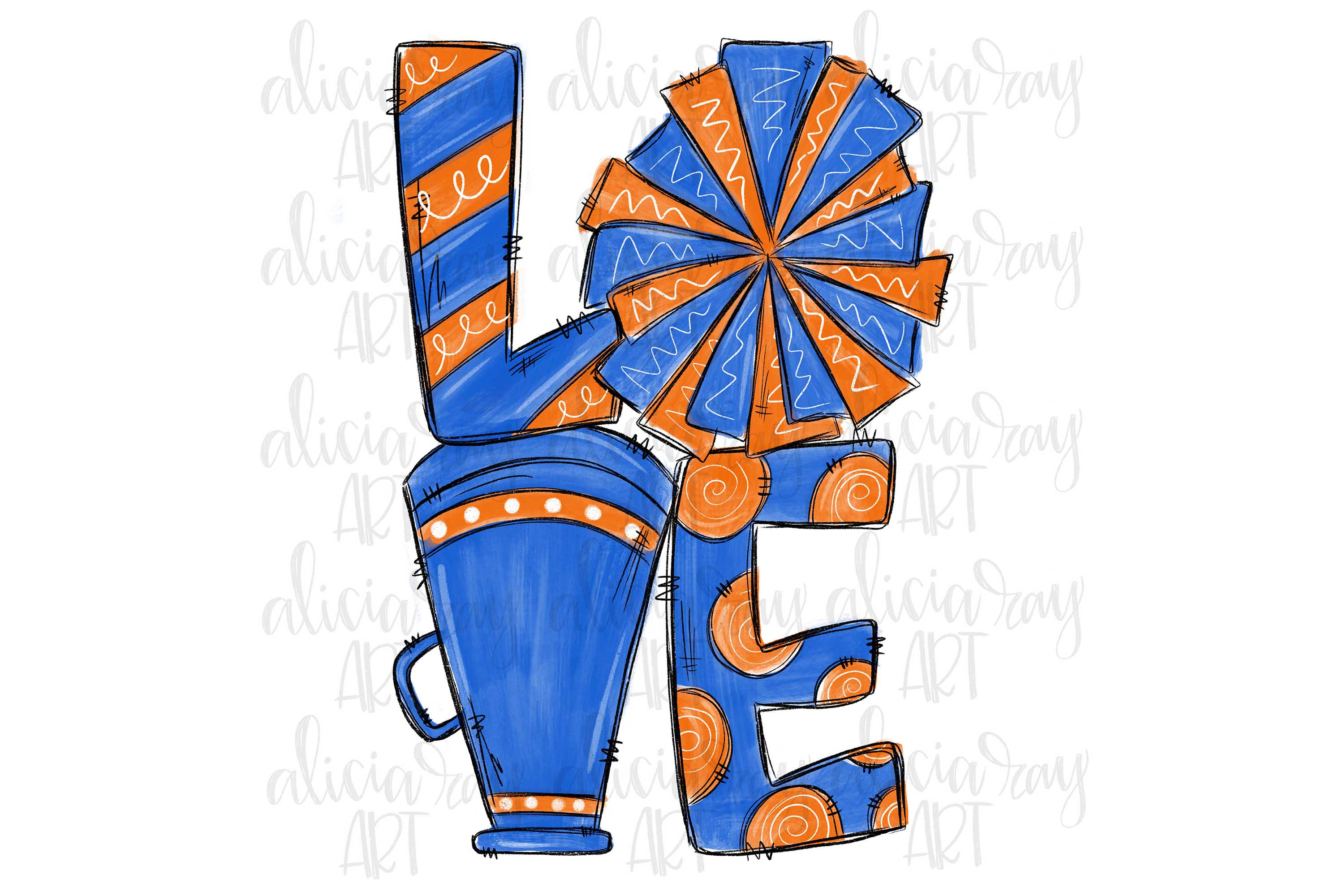 Cheer Love Blue and Orange example image 1