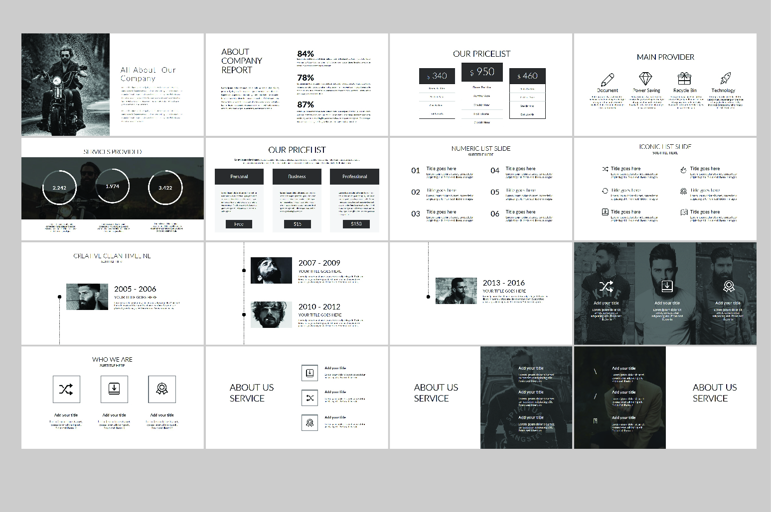 Hipsteria Business Keynote Template example image 8