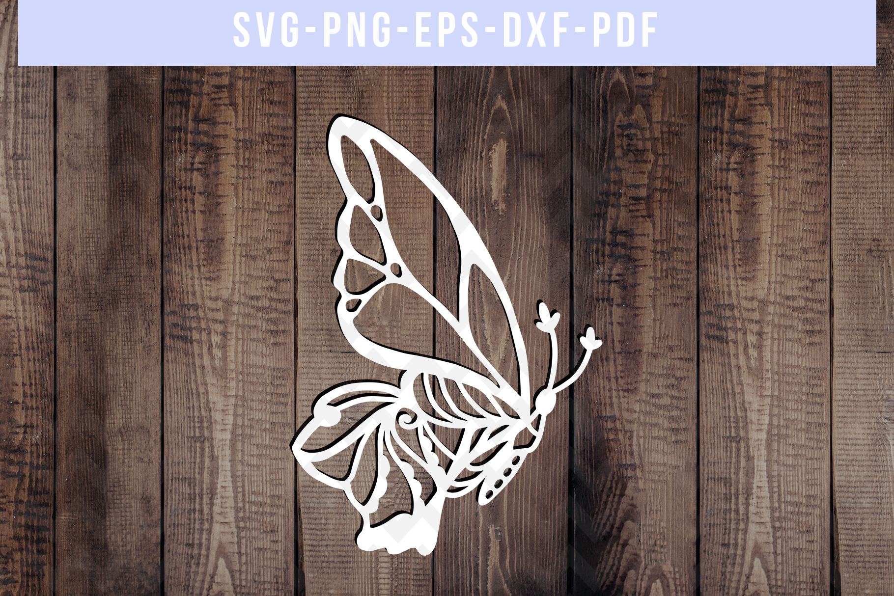 Bundle Of 9 Butterfly Papercut Templates, Paper Art DXF PDF example image 5