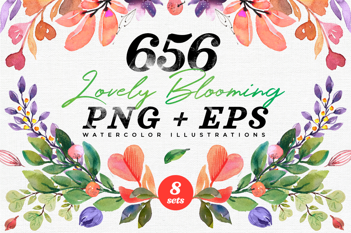 656 Lovely Blooming Hearts Greenery example image 1