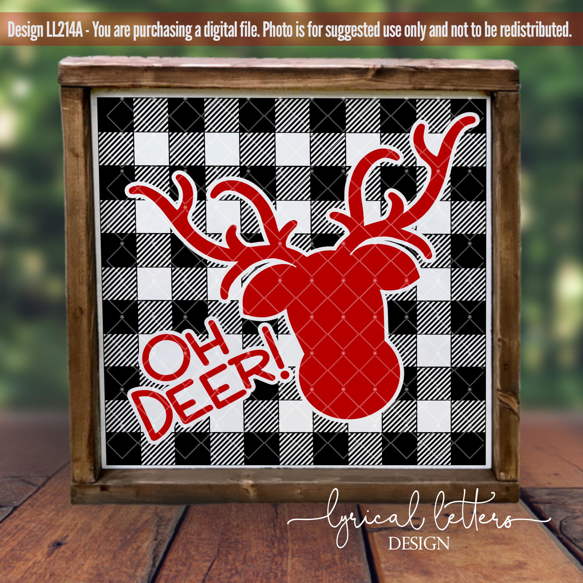 NEW! The Big Buffalo Plaid Christmas Bundle SVG DXF FCM example image 2