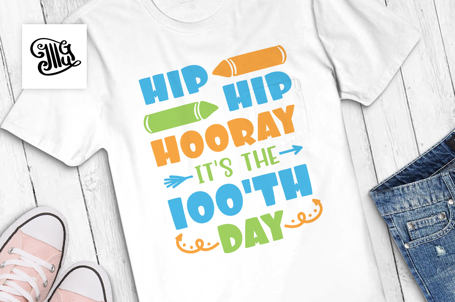 100 days of school for kids svg example image 1