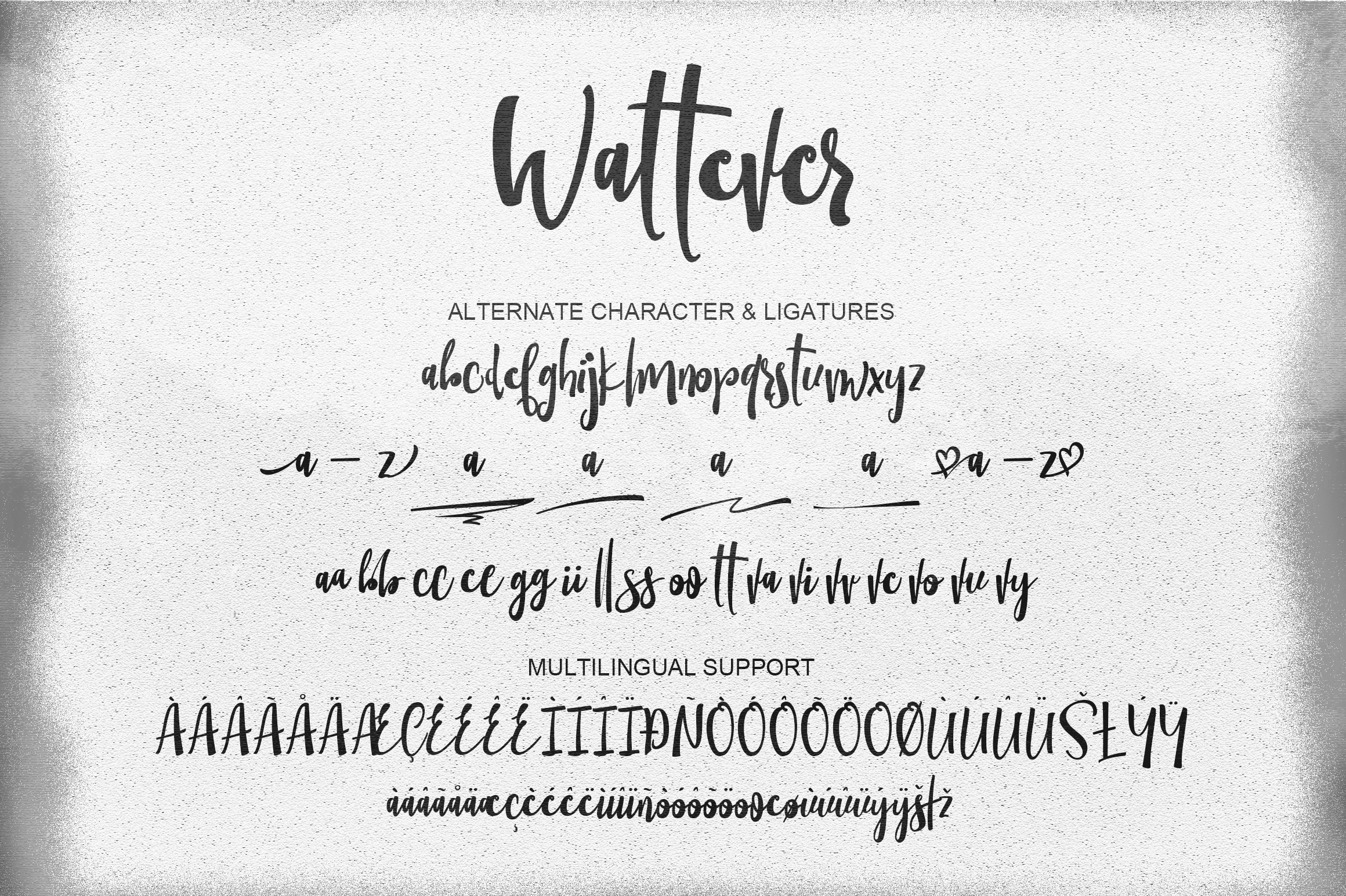 Wattever | Handdrawn Typeface example image 4